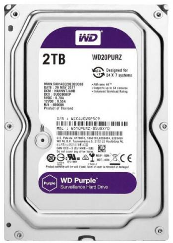 Western Digital Purple WD20PURZ 2TB Surveillance HDD