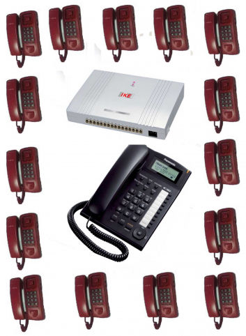 PABX System 16 Line 16 Telephone Set Full Package