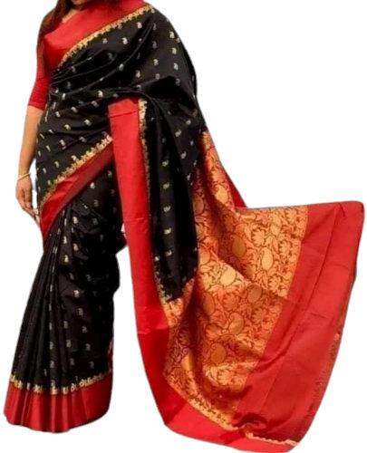 Dot Printed Indian Silk Katan Sharee