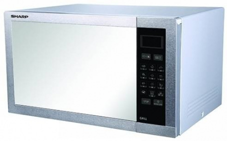 Sharp R-77AT AR (ST) 34L Push Door Microwave Oven