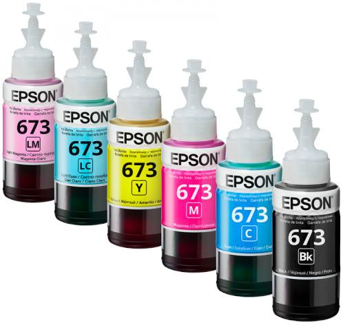 Epson 673 Original 6 Pcs Set Printer Ink Bottle Refill