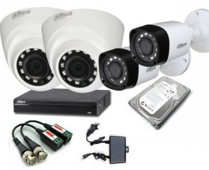 CCTV Package 4-CH DVR 4 Pcs Camera with 500GB HDD