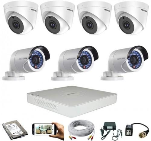CCTV Package Dahua 8-CH DVR 7 Pcs 2MP Camera