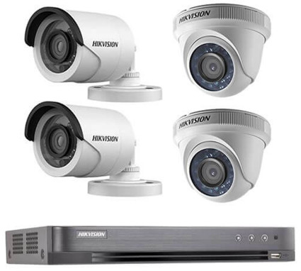 CCTV Package 4-Pcs 2MP HD Hikvision Dome Camera