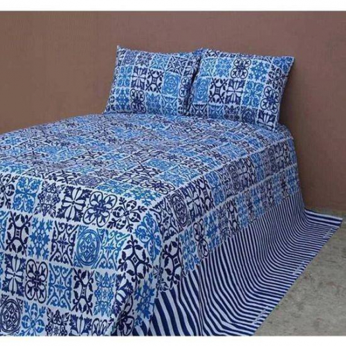 Colorful King Size Cotton Bedsheet