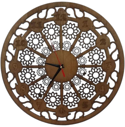 Round Shape Wooden Wall Clock