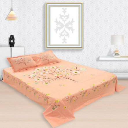 King Size Bed Sheet and Pillow Cover Set