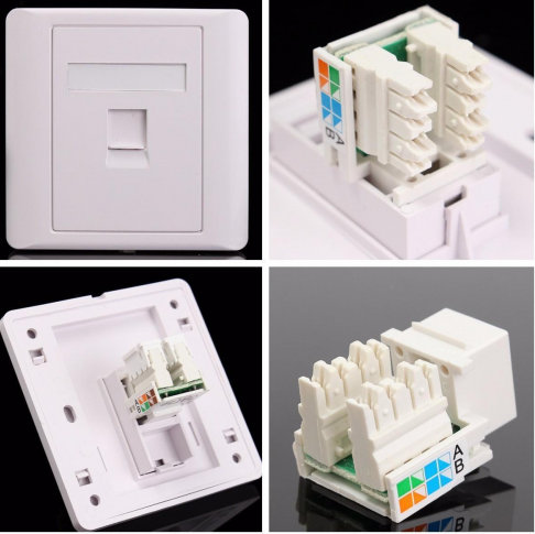 Cat-6 Network Socket Module with Faceplate