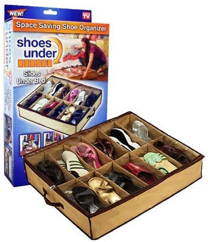 12 Pairs Shoes Storage Organizer Holder