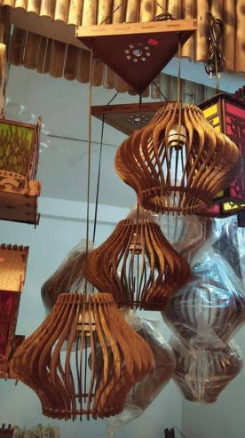 Wooden Decoration Hanging Lamp