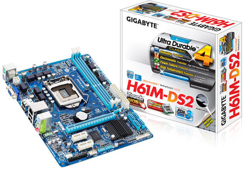 Gigabyte GA-H61M-DS2 3rd / 2nd Gen Micro ATX PC Mainboard