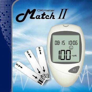 OK Meter Match II CE0123 Blood Glucose Monitoring