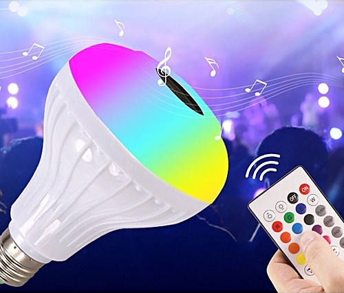 LED Music Bulb with Remote Control Bluetooth Speaker