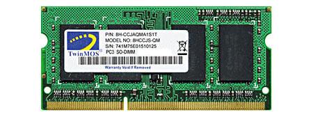 Twinmos 8GB DDR3 1333BUS Laptop RAM