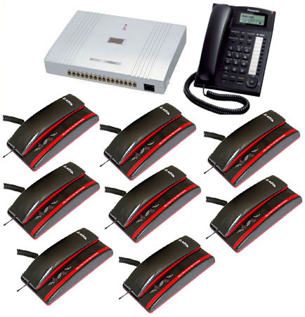 PABX System 8 Line 8 Telephone  Complete Package