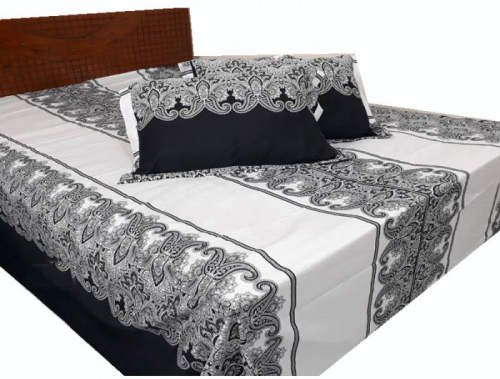 King Size Cotton Bed Sheet with Matching 2 Pillow Cover