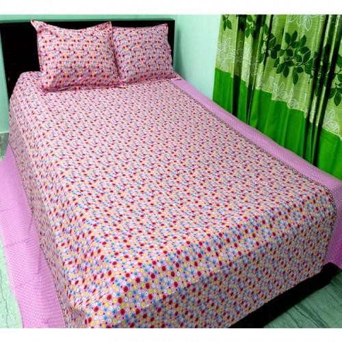 Pink Color Super Soft Bed Sheet