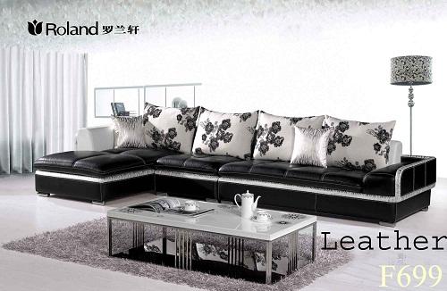 Roland F699 Corner Chinese Style Leather Modern Sofa Set Price Bangladesh Bdstall