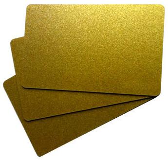 Waterproof  PVC Gold & Silver Glossy Card