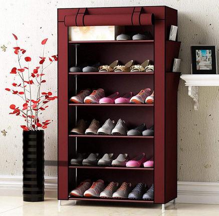 Telebrands 6-Layer Dustproof Shoe Cabinet