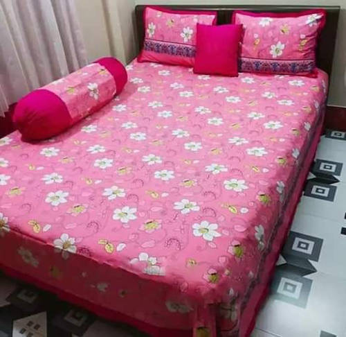 Multicolor King Size Cotton Bed Sheet