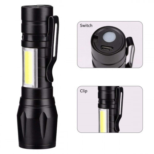 Handheld Tactical Focus Flashlight Torch