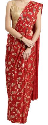 Luxury Designed High Quality Screen Printed Silk Saree