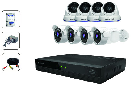 CCTV Package Jovision 8-CH DVR 8-Pcs Full HD Camera