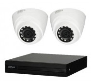 CCTV Package Dahua 4 Channel DVR 2 Pcs Full HD Camera