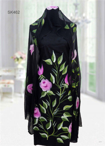 Colorful Cotton Fabric Kameez with Orna SK462