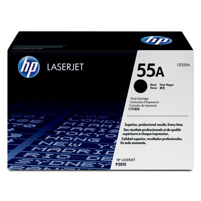 HP CE255A 55A Black LaserJet Toner Cartridge