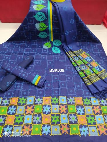 Block Print Cotton Fabric Salwar Kameez