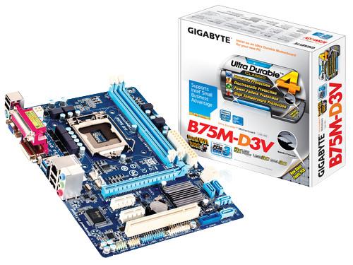 Gigabyte B75M-D3V 3rd Gen Gaming Motherboard