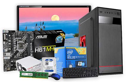 "Desktop Core i5 3rd Gen 4GB RAM 500GB HDD 17"" LED Monitor"