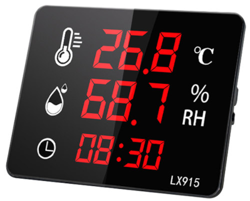 LX915 Industrial Wall Mount LED Display Hygrometer
