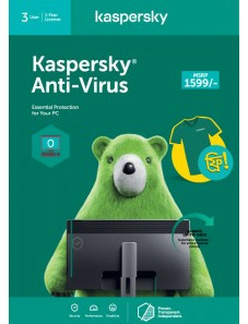 Kaspersky Anti-Virus 3 PC 1 Year
