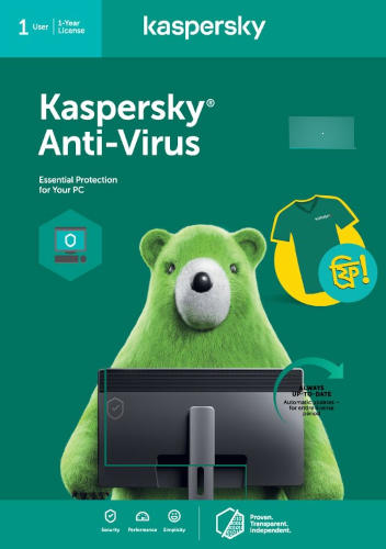 Kaspersky Antivirus Security 1 PC for 1 Year
