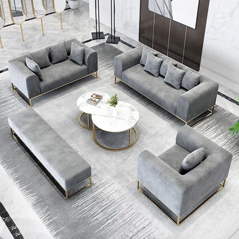 Super Soft Foam Metal Sofa Set
