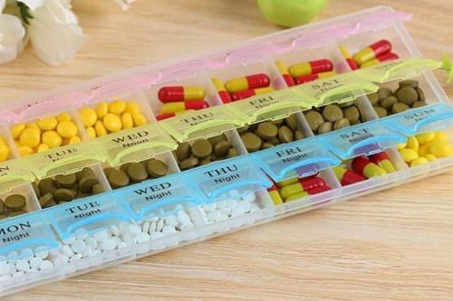 Multicolor Medicine Storage Pill Box