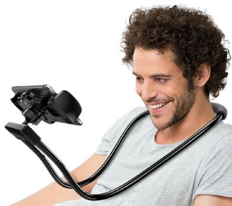 360 Degree Rotatable Neck Mobile Phone Holder