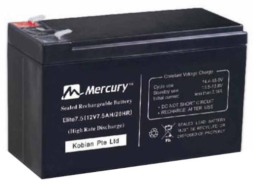 Mercury Elite 7.5AH 12V UPS Battery