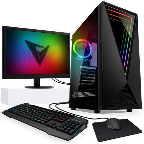 "Gaming PC Core i7 9th Gen 8GB RAM 240GB SSD 22"" HP LED"
