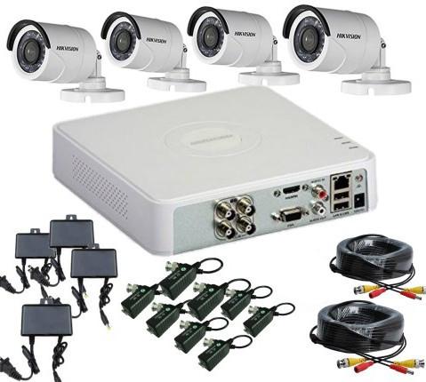 CCTV Package Hikvision 4CH DVR 4 PCS HD Camera 500GB HDD