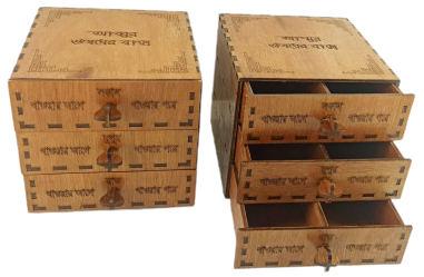 Wooden Drug Storage Box