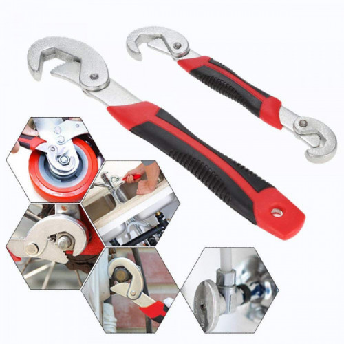 Adjustable Snap and Grip Wrench Tool