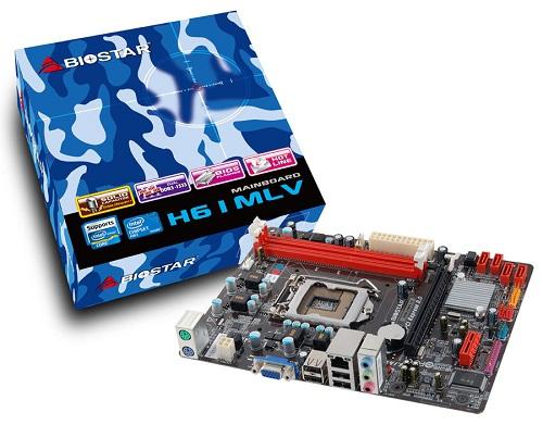 Biostar H61MLV Socket LGA 1155 Intel H61 Mainboard