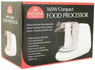 Messini 160W Compact Food Processor