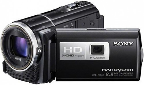 Sony HDR-PJ260 16 GB Full HD 1080p Projector Camcorder