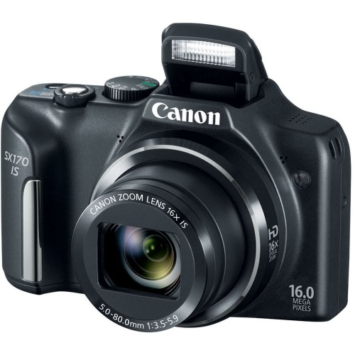 Canon PowerShot SX170 IS 16MP 16x Zoom HD Camera