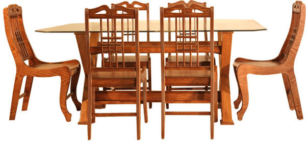Jupitar Dining Table With Six Chairs